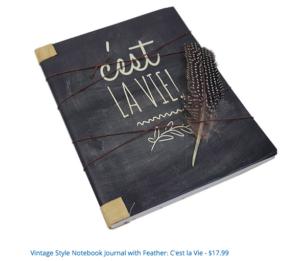 story outline, vintage style, notebook, modern artisan