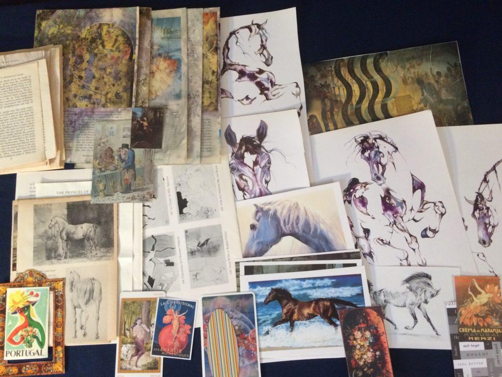 horse ephemera art pack