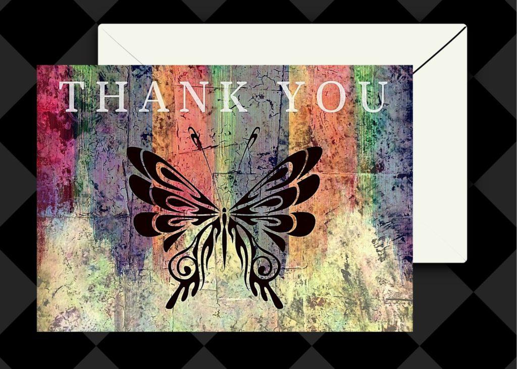 thank you, fineartamerica, thank you card, mixed media